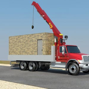 Die Container ohne interne Wände - ein großer Bereich wird kreiert