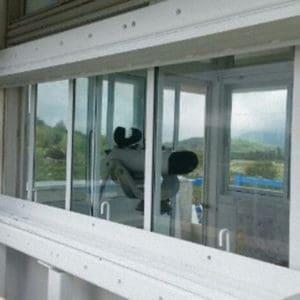 Verstärkung und Absicherung gegen Kugel von Fenstern