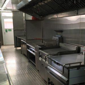 Industrielle Küchenausrüstung, die hunderte von warmen Mahlzeiten täglich ermögl